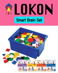 로콘 Smart Brain Set(블록780pcs,분리용핀10pcs,활동책4책,작품모음집1책,보관함)